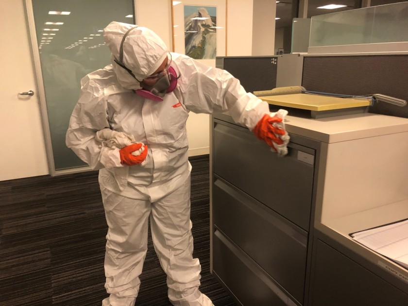 corona virus cleanup